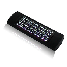 MX3 Air Mouse Backlight MXIII Wireless Keyboard 2.4G IR Learning Fly Air Mouse Backlit Handle For Mini Pc X96 H96 Android TV BOX