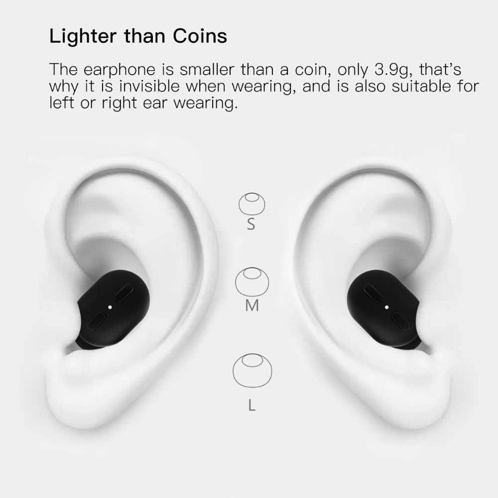 Wavefun Micro Bluetooth 5.0 Earpiece Mini Earphone Invisible Earbuds Single Wireless Headphone for One Ear Headset with Mic