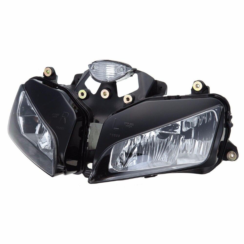 Fit For Honda CBR600RR CBR 600 RR 600RR F5 2003 2004 2005 2006 03-06 Headlight Head Light Lamp Assembly Black front headlight headlamp head light lamp upper stay bracket fairing cowling for honda cbr600rr cbr 600 rr 2003 2004 2005 2006