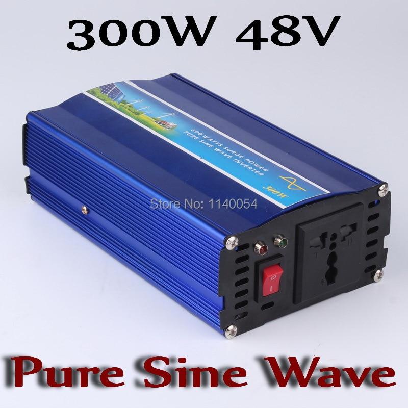 Onduleur 300 W hors réseau, onduleur à onde sinusoïdale pure 300 W pour système solaire et éolien 48 V DC à AC 100/110/120/220/230/240/V