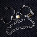 Связывания металлов замок ремня медного сплава вкусовые наручники связанными руками и ногами bdsm связывание ограничения неволи наручники для секса