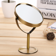 BlueZOO Новое бронзовое двухстороннее Парикмахерское зеркало, настольное зеркало для макияжа, 1:2, увеличительное функциональное стекло, косметическое зеркало