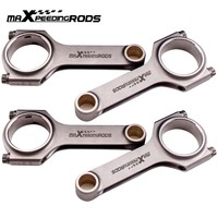 H beam High Performance Conrod Connecting Rods for Honda Civic CRX D16 ZC SOHC 4340 EN24 Forged Steel Cranks