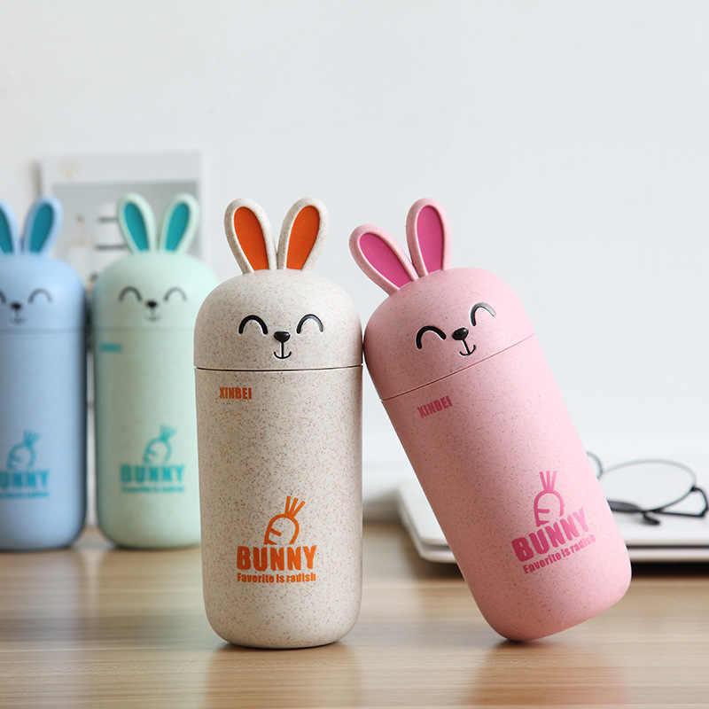 415 ml תינוק בקבוק ילדים ללמוד לשתות בקבוק הקפצת כוס קריקטורה ארנב קפה חלב בית ספר נסיעות בקבוק