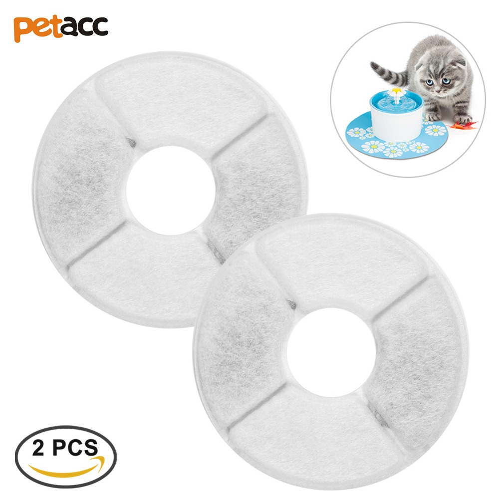 Petacc 2pcs Multi-Functional Pet Fountain Filter Activated Carbon Filter Special For Automatic Dog Cat Water Feeder Accessories