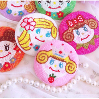 Ensso 2018 Round Cartoon Coin Purse Japan Korea Ugly Doll Cute Women Beading Purse Handmade Embroider Card Holder Lovely Quality