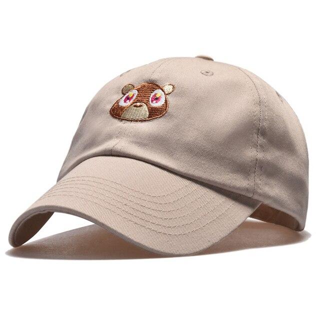 Dropout Bear Baseball Cap Men brown Hat for Men Dad hats Snapback Summer cap  for women embroidery kanye trucker hat Cotton 4faf56211e4