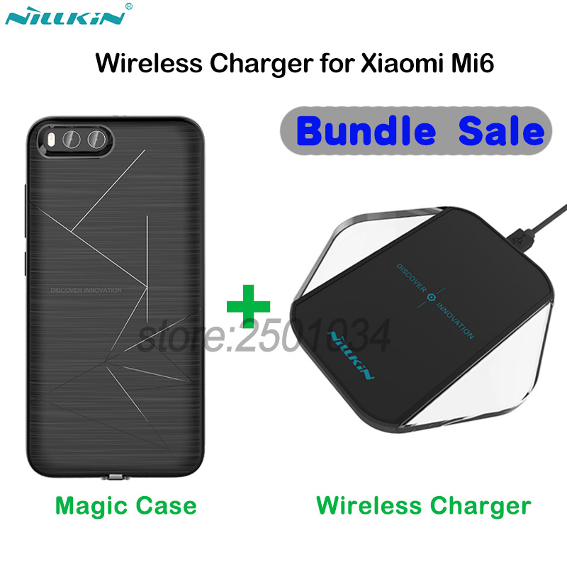 Original NILLKIN Phone Wireless Charger Charging Pad Wireless Charging Receiver Case For Xiaomi Mi6 Mi 6