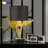 FUMAT Trophy Cup Table Lamps Modern Art Marble +Metal Bedside Lamp Hotel Living Room Bedroom Study Office Table Light Fixture