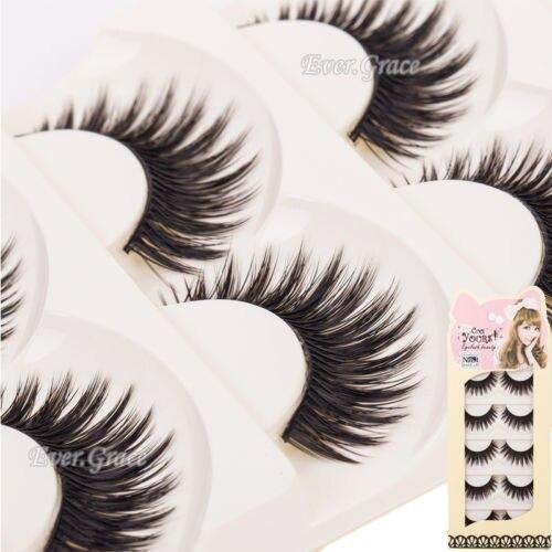 Natural Black Make Up False Eye Lashes Long Thick Eyelashes Extension Handmade