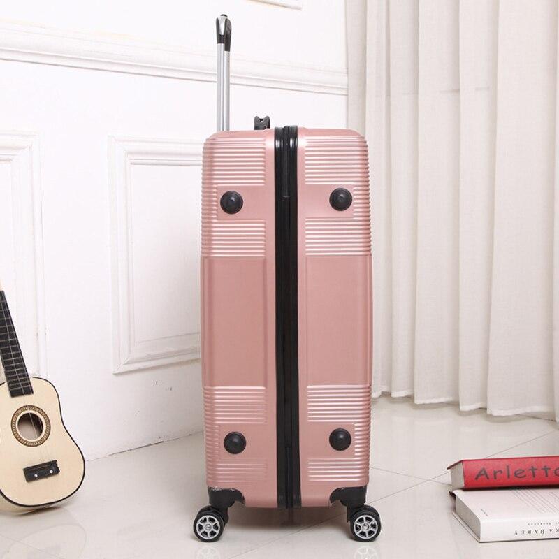 Equipaje de viaje con ruedas para Sipnner, ABS + maleta para mujer, maleta con ruedas para hombre, cabina de moda, caja de transporte, equipaje de 20/28 pulgadas - 5