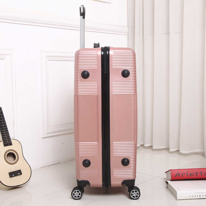 Reise Roll gepäck Sipnner rad ABS + PC Frauen koffer auf rädern männer mode kabine tragen-auf trolley box gepäck 20/28 zoll