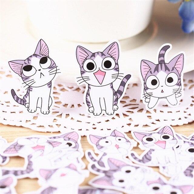 38 stks Anime katten alledaagse Papier Stickers Ambachten En Scrapbooking stickers kids speelgoed boek Decoratieve sticker DIY Briefpapier
