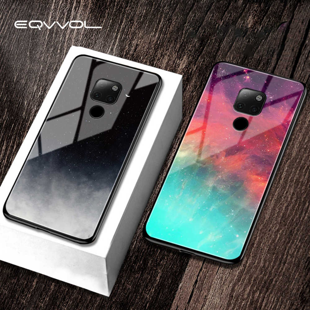 Eqvvol Tempered Glass Space Case For Huawei Mate 20 10 Pro P20 P30 Lite Honor 9 8 10 P9 P10 Case Starry Cover For Nova 3i 3 Case
