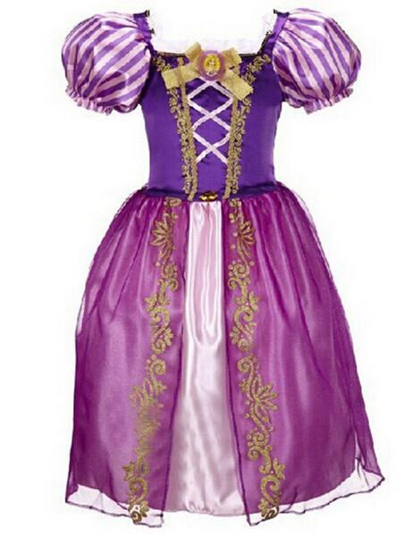 DB23655 Children Girl princess sofia dress-6