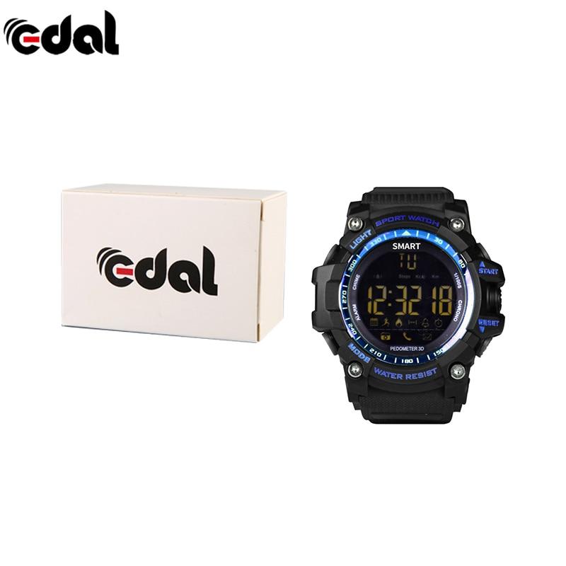 2018 Men Fashion Outdoor Sports Waterproof Smart Watch Pedometer Calories Chronograph Smart Wear Equipment Smartwatch