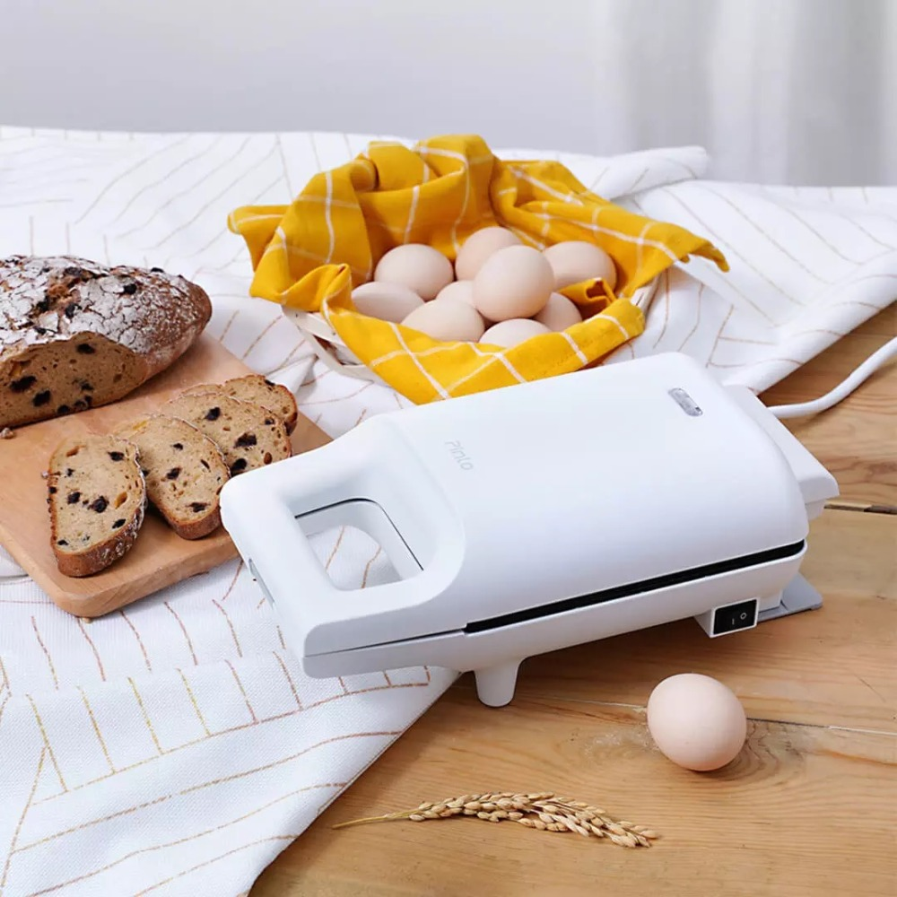 Xiaomi Mijia Pinlo Mini Sandwich Machine Fast Food Maker Easy Storage High Capacity Curved Inner Liner for Home Office DIY Food (3)
