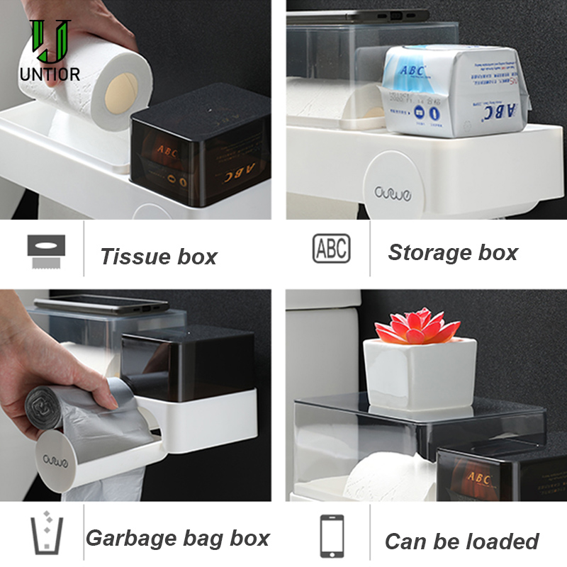 16 Set of 4 Plastic Holder Waterproof Wall Mount Grocery Dispenser Garbage Bag O