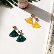Korean Brand jewelry fashion earrings temperament  vintage  green tide  ear   ear stud  design  hand  air  earring