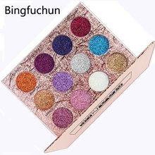 Brand Beauty Queen Eyeshadow and Cheek Palette  Metallic Diamond Pigment Glitter Shimmer Eye Shadow Glazed Makeup Set 12 Color