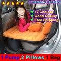 10 Выбор 2015 автомобилей Back Seat Cover Автомобильные путешествия Кровать надувной матрас кровать с мешком Подушки & Pump Хорошее качество Надувные автомобиля кроватью