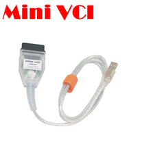by dhl or ems 50 pieces MINI VCI  for TOYOTA TIS Techstream V10.30.029 for Toyota Lexus Diagnostic Cable