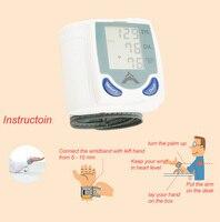 Новая быстрая доставка наручных манжет lcd цифровой монитор пульса кровяного давления