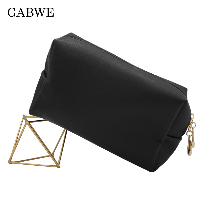 GABWE New Women Solid Makeup Bag Travel Cosmetic Bags Toiletry Beauty Case maquiagem neceser kosmetyczka Dropshipping