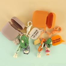 Милый мультфильм силиконовый чехол для Apple Airpods 1 2 мягкий чехол аксессуары Bluetooth наушники защитный чехол для сумки Коробка
