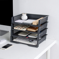 3 шт./лот moetron офисные Бумага лоток коробка для хранения документов Пластик коробка A4 Лоток для дел организатор стол