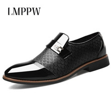 Luxury Brand Classic Man Pointed Toe Dress Shoes Mens Patent Leather Oxford Shoes Slip on Men Flats Fashion Brogue Formal Shoes цены онлайн