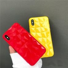 Kılıf Kapak iphone 6 Için 6 S Artı 7 artı iphone 7 10 3D Elmas Desen Şeker Renkler TPU Yumuşak iphone için kılıf 8 7 6 6 s 8 art...