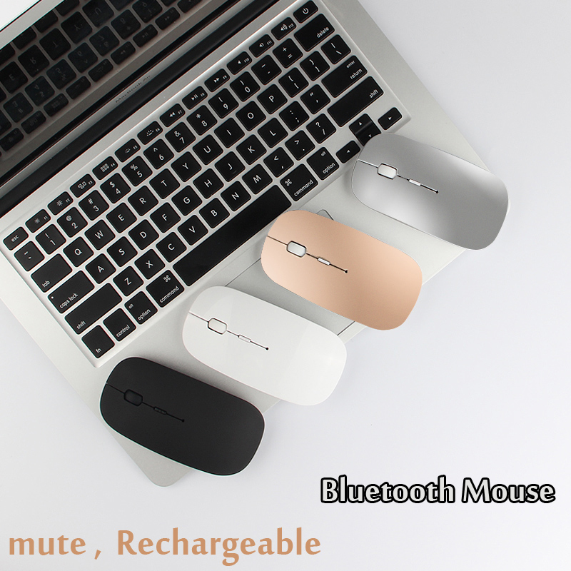 Bluetooth Mouse For Macbook Air Pro, For Win10/Mac Laptop Computer Wireless Mouse Rechargeable Mute Silent Optical Gaming Mouse