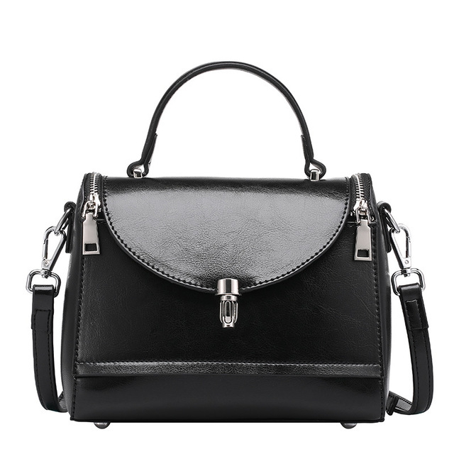 Miwind Women Handbags Posh Female Bag 2018 New Genuine Leather Doctor Bags Classic Retro Shoulder