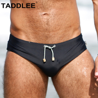 Taddlee Brand Sexy Men's Swimwear Swim Briefs Bikini Solid Swimsuits Gay Penis Pad Enhance Surf Board Shorts Trunks Bathing Suit
