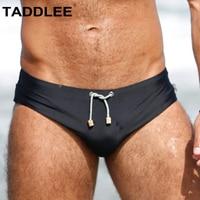 Taddlee Brand Sexy Men's Swimwear Swim Briefs Bikini Solid Swimsuits Gay Penis Pad Enhance Surf Board Shorts Trunks Bathing Suit