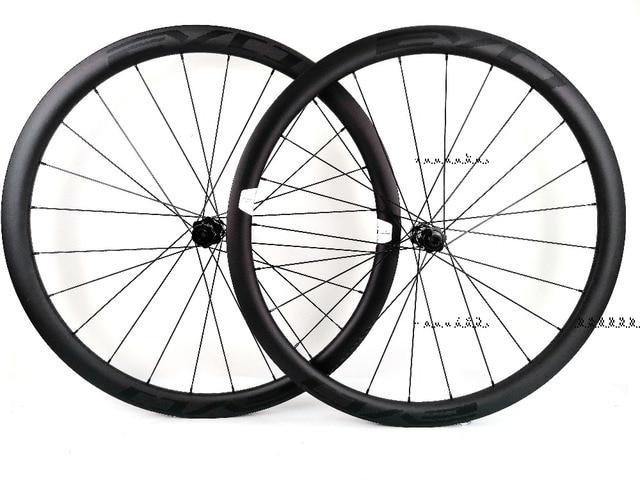 EVO 38mm depth road bike disc brake carbon wheels 25 width Tubeless cyclocross carbon wheelset with center lock disc brake hubs