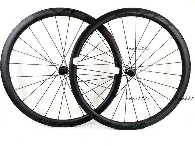 EVO 38mm derinlik yol bisiklet fren diski karbon tekerlekler 25 genişlik Tubeless cyclocross karbon tekerlekler et merkezi kilit disk fren hub