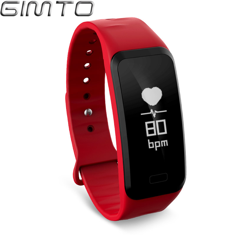 GIMTO Sport Smart Bracelet Watch blood pressure heart rate sleep monitor blood oxygen pedometer Waterproof Clock for IOS Android