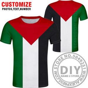 Image 4 - Palestyna t shirt diy za darmo na zamówienie nazwa numer palaestina koszulka PLE flaga narodowa tate carrinina college drukuj logo odzież