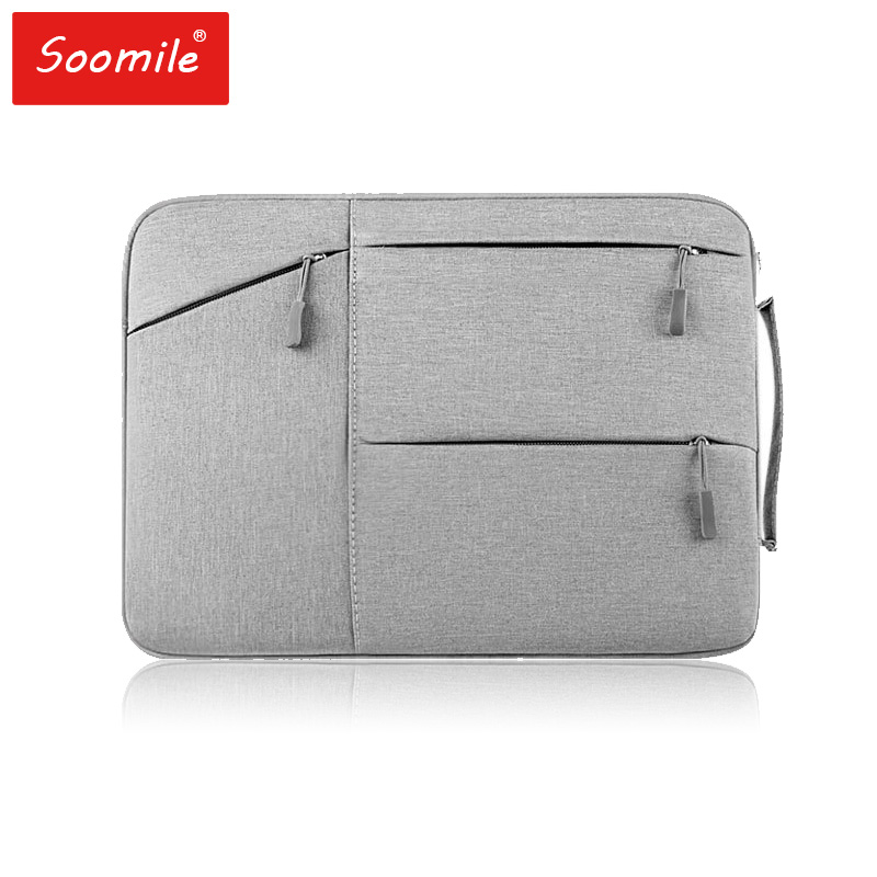 Soomile Laptop Bag 12 13.3 15 15.6 Inch Notebook Bag High Quality Brand Men Women Ipad Bags Handbag