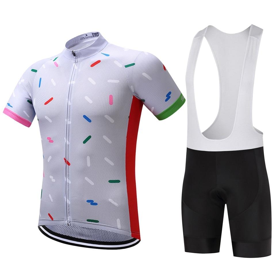 뜨거운 판매 9D 패드 자전거 저지 자전거 의류 세트 통기성 로파 Ciclismo 자전거 유니폼 사이클 유니폼 Coolmax 턱받이 반바지 바지