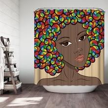 3D Beautiful Women Shower Curtains Fashion Portrait Pattern Waterproof Mildew Proof Thickened Bath for Bathroom