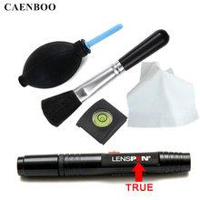 Caenboo Lenspen чистые Резина Воздуходувка пыль Cleaner Камера чистки линз ручка кисти Протрите ткань комплект для Canon Nikon Sony Горячий башмак