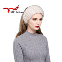 Women Headband Handmade Knitted Genuine Mink Fur Headbands Girls Natural Fur Hat Winter Warm Colorful Headbands Scarf HB#01