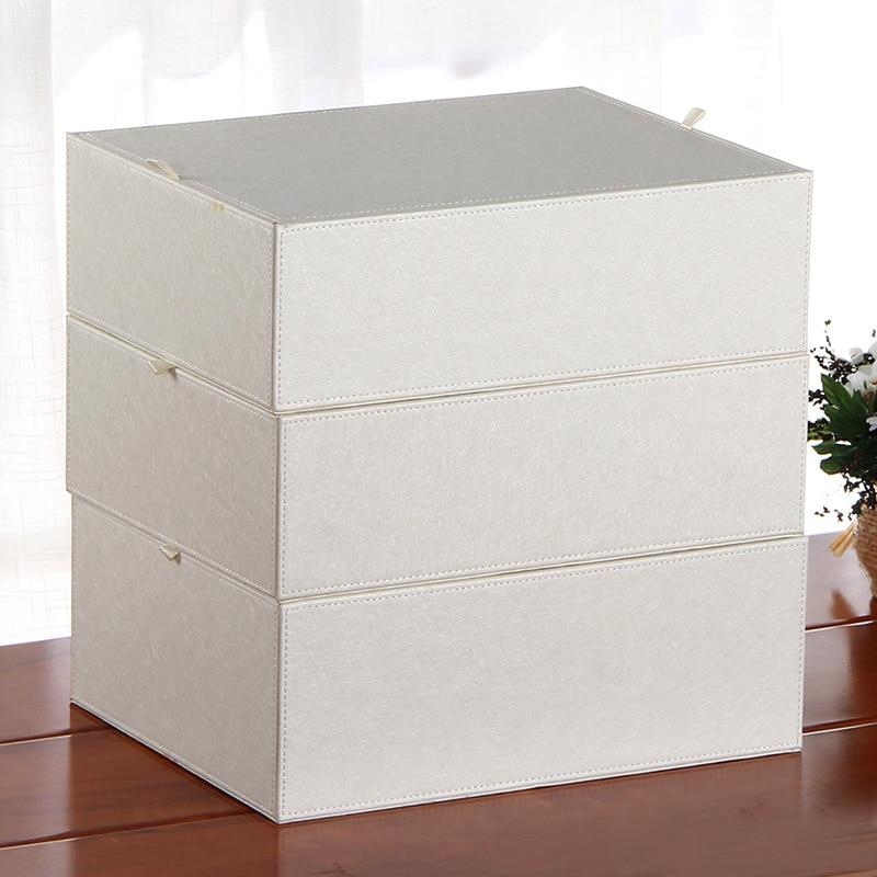 3PCs/Set PU Leather Underwear Bra Organizer Storage Box 5 Colors Drawer Closet Organizers Boxes for Underwear Scarfs Socks Bra ...