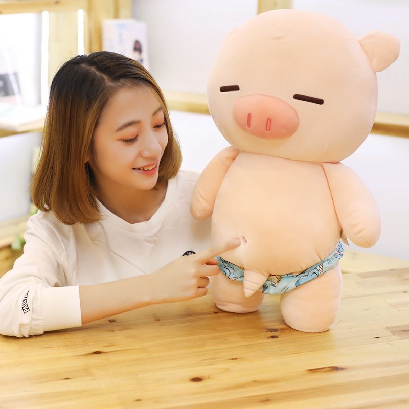 Scampish Piggy Plush Toys Cute Pig Stuffed Cartoon Animal Doll Soft Nap Pillow Sofa Cushion Kids Girlfriends Birthday Best Gifts