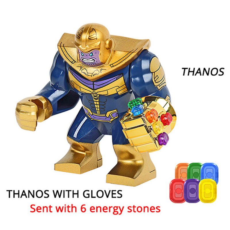Thanos Building Blocks Energy Stones Gloves Marvel New Avengers 4 Endgame Compatible With Super Hero Bricks Toys Building Blocks