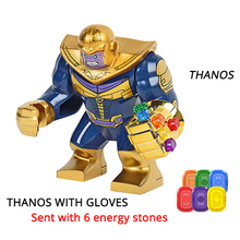Luvas de Construção de Blocos de Pedras de Energia Thanos Maravilha New Avengers 4 endgame Compatível com Tijolos Brinquedos Blocos de Construção de Super Herói