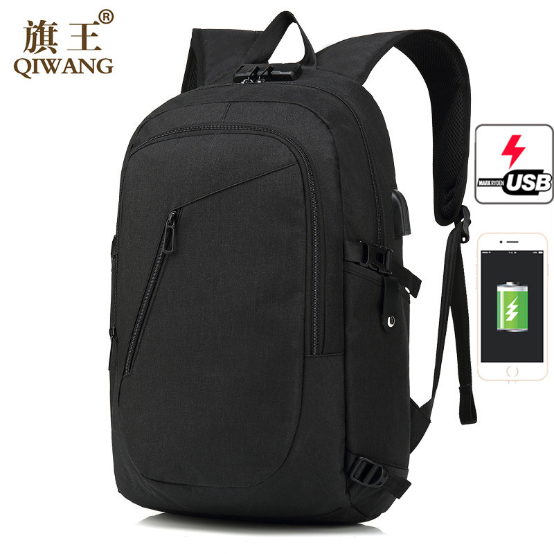 Qi Wang Fashion Backpack Urban Anti theft USB Charging Backpack Computer Laptop School bag Backpack for Men Travel Waterproof men backpack anti theft multifunctional oxford fashion college student school backpack password lock laptop computer bag